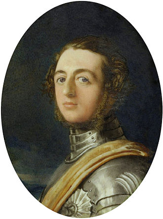 Henry Beresford, 3rd Marquess of Waterford - The Marquess of Waterford dressed in Eglinton armour, by Robert Thorburn (1840).