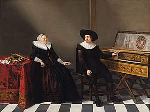 English: Marriage Portrait of a Husband and Wi...