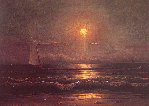 Martin Johnson Heade -Sailing by Moonlight