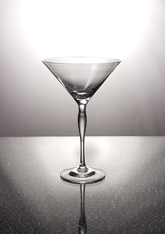 Cocktail glass - An empty Martini Glass