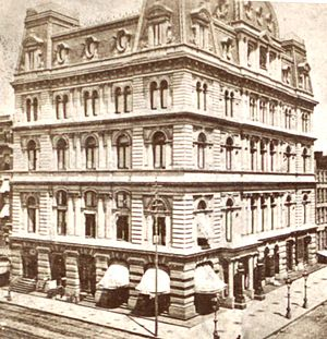 Napoleon LeBrun - The now-demolished Masonic Temple in Manhattan (1875) which helped established LeBrun's reputation in New York City