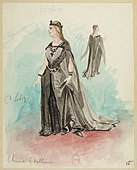 Massenet - Le Cid - Costume sketches by Lepic - 15 Chimène 4.tableau.jpg