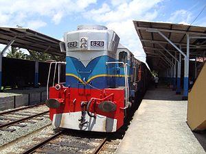 Matara railway station - Train waiting at Matara Railway Station