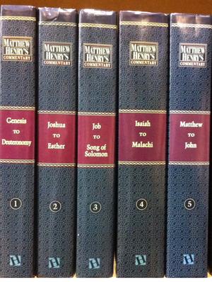 Matthew Henry - The Biblical commentaries written by Matthew Henry