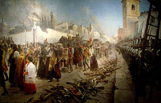 Second Siege of Zaragoza - The surrender of Zaragoza, by Maurice Orange.