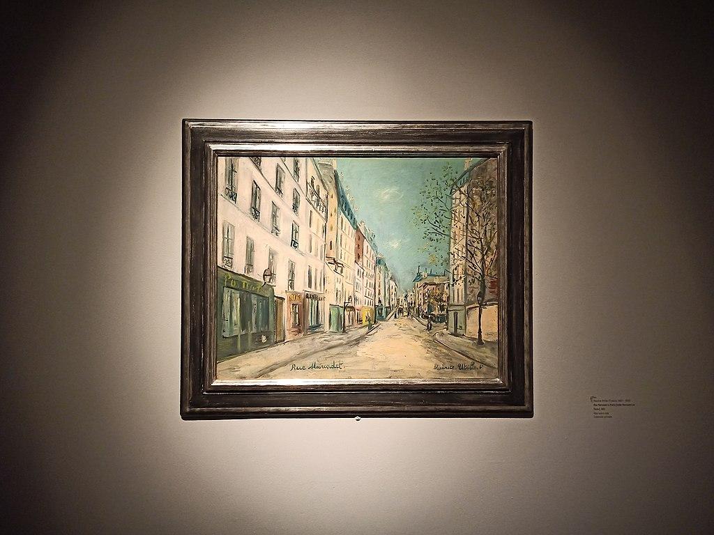 Maurice Utrillo en «El París de Modigliani y sus Contemporáneos» - Museo del Palacio de Bellas Artes, CDMX