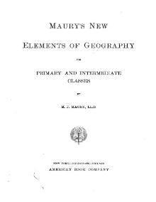 Maury's New Elements of Geography, 1907.djvu