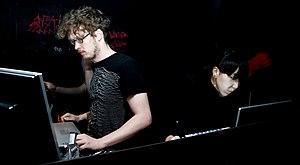 Max Hattler - Max Hattler (left) with Noriko Okaku, 2010