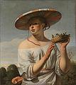 Meisje met brede hoed - Caesar van Everdingen.jpg