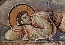 Photographie montrant un détail des fresques de l'église de Nerezi