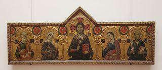 Redemptor between the Virgin and three Saints