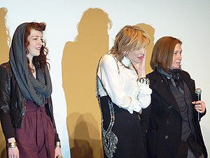 Hole (band) - Melissa Auf der Maur, Courtney Love, and Patty Schemel at a screening of Hit So Hard (2012) at the Museum of Modern Art, New York City