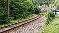 """Mellenbach Glasbach Gleis Bestandteil der Sachgesamtheit """"Eisenbahnstrecke Oberweißbacher Berg- und Schwarzatalbahn"""" 5.jpg"""