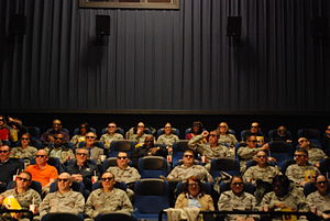 Members of Air Force Recruiting Service attend...