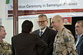Members of the International Security Assistance Force and the Mazar-e-Sharif Provincial Reconstruction Team are represented by Swedish Army Col. Anders Lofberg, the commanding officer of the Mazar-e-Sharif 111229-A-ZZ999-001.jpg