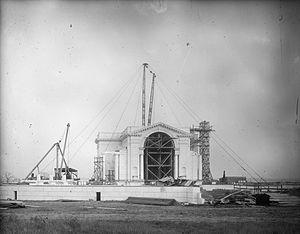 Arlington Memorial Amphitheater - Construction begins on Memorial Amphitheater in 1916.