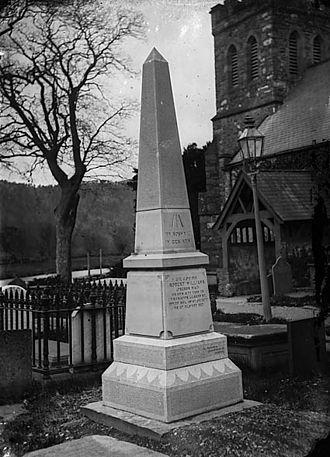 Robert Williams (Trebor Mai) - Memorial to Robert Williams (aka Trebor Mai), Llanrwst, c. 1875