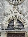 Menaucourt (Meuse) église (03) statue de la façade.JPG