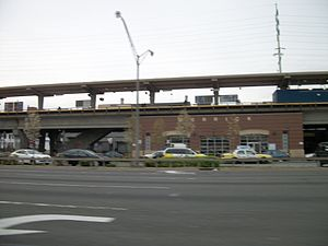 Merrick LIRR Station from Sunrise Highway.JPG