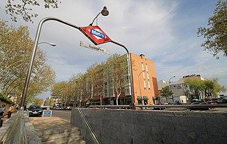 Suanzes (Madrid Metro) - Image: Metro de Madrid Suanzes 01