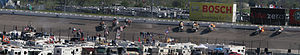 Michael McDowell (racing driver) - Panorama of McDowell's crash in sequence at Texas Motor Speedway