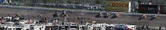 Michael Waltrip Racing - Panorama of Michael McDowell's crash in sequence at Texas Motor Speedway
