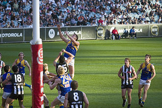 West Coast Eagles - Image: Michael Gardiner wins another ruck contest