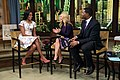 "Michelle Obama participates in a taping with Kelly Ripa and Michael Strahan for ""Live! with Kelly and Michael"", 2012.jpg"