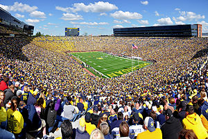 2014 Penn State Nittany Lions football team - The game was held in prime time at Michigan Stadium (pictured)
