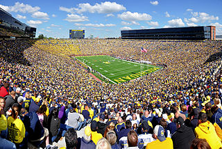Michigan Stadium American football stadium in Ann Arbor, Michiganː home of the Michigan Wolverines football team