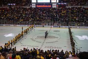 Michigan Tech and Michigan before the 2015 championship game