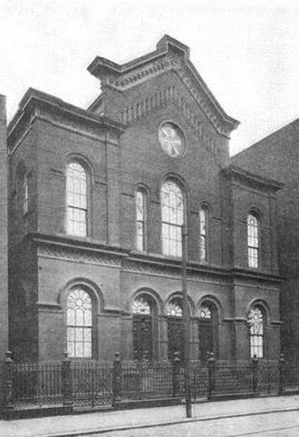Congregation Mikveh Israel - Third building of Mikveh Israel at 7th and Arch Streets from 1860 to 1909 (circa 1901)