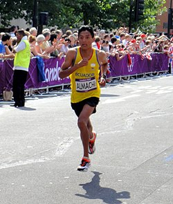 Miguel Angel Almachi (Ecuador) - London 2012 Mens Marathon.jpg