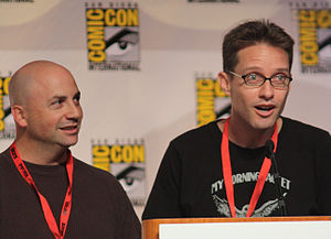 Family Guy (season 1) - Matt Weitzman (left) and Mike Barker worked as co-producers for the season.