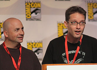 Family Guy - Matt Weitzman (left) is a former staff writer and Mike Barker is a former producer and writer of the show. Both left the series to create the ongoing adult animated sitcom American Dad! with Seth MacFarlane. Barker would depart American Dad! as well, following production of the show's 10th season.