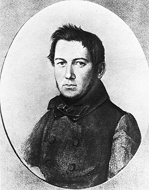 Mikhail Glinka - Glinka drawn in the 1840s, portrait by Yanenko.