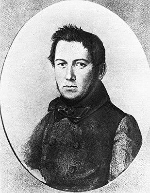 Портрет М. Глинки кисти художника Я.Ф.Яненко, 1840-е годы