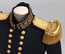 Close-up image of military epaulettes
