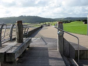 National Cycle Route 4 - NCR 4 traverses the Millennium Coastal Path at Llanelli.