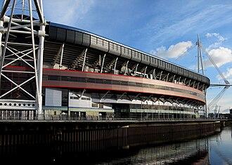2016–17 UEFA Champions League - Image: Millennium Stadium Reflected