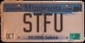 Minnesota 2015 personalized license plate - STFU.png