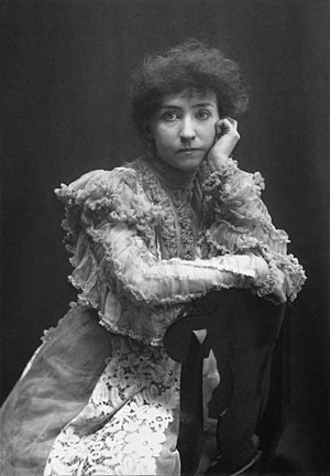 "Minnie Maddern Fiske - ""Mrs. Fiske: Love Finds the Way."" Photograph by Zaida Ben-Yusuf (1896)"