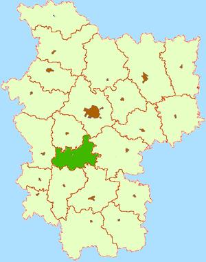 У́зденский район на карте