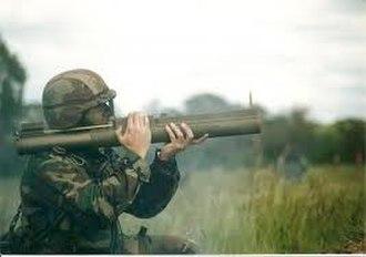 MARA (anti-tank weapon) - Argentine Army soldier firing a MARA