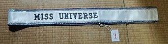 Miss Universe - Miss Universe sash