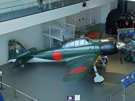 "The IJN's Mitsubishi A6M ""Zero"" fighter was superior to anything in the Soviet inventory. Mitsubishi A6M Zero , Ling Shi Jian Shang Zhan Dou Ji Liu Er Xing  - panoramio (2).jpg"