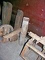 Molen De Korenbloem, Kortgene, bovenas stempel, links roosterhouten.jpg