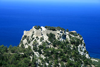Monolith - Monolithos fortress on Rhodes, Greece