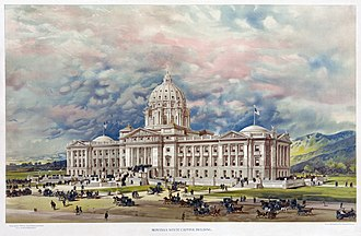 Montana State Capitol - Winning competition design for the Montana State Capitol by George R. Mann, 1896 (unbuilt)