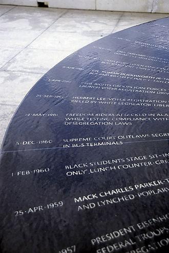 Civil Rights Memorial - Image: Montgomery Civil Rights Memorial